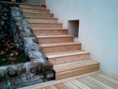 escalier habillage bois