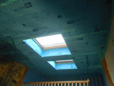 isolation et frein vapeur sous toiture